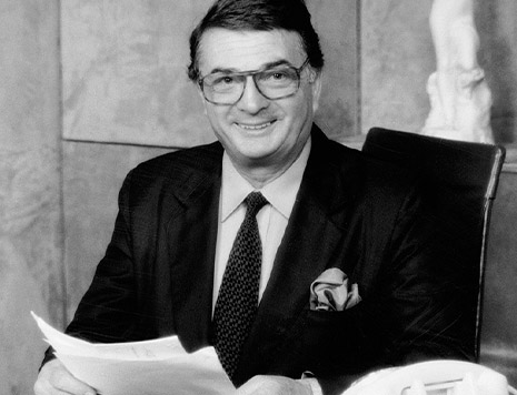 Photo of founder Jacques Courtin-Clarins