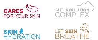 Skin Care - Anti pollution complex - Skin hydration - Let Skin Breathe